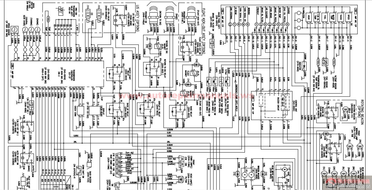 Doosan Mega 250-v Electrical Schematic
