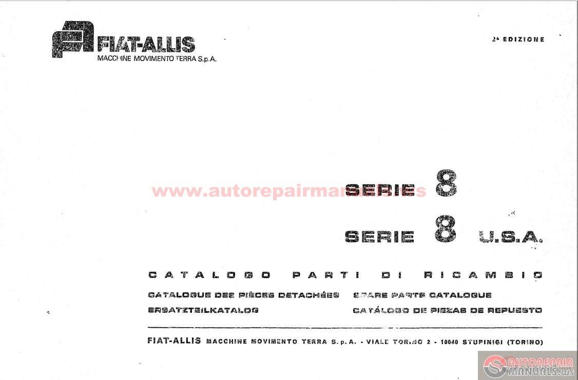 Fiat Allis 8b Dozer Parts : Fiat allis dozers b sn up parts book auto