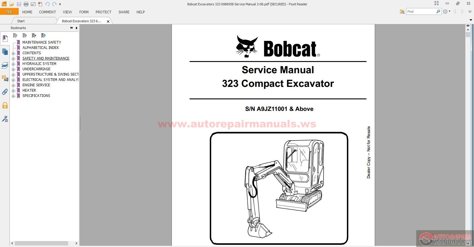 bobcat 323 wiring schematic bobcat diy wiring diagrams description bobcat excavators 323 6986958 service manual 2 08 size 31 8mb language english type pdf pages 643 bobcat wiring schematic