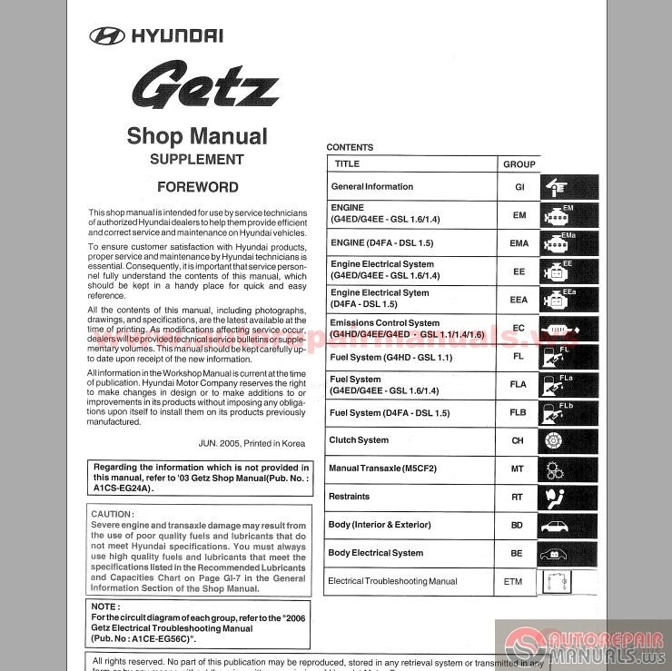 hyundai getz 2005 service manual auto repair manual. Black Bedroom Furniture Sets. Home Design Ideas