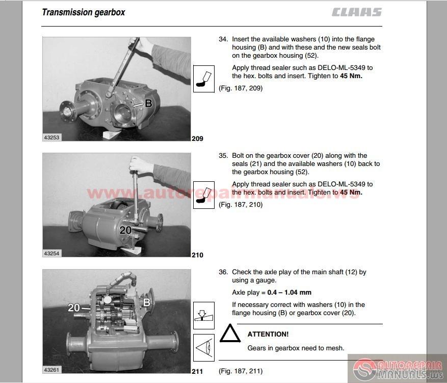 Claas Dominator 108VX,98VX,88VX Operation Mantenance Manual | Auto Repair Manual Forum - Heavy ...
