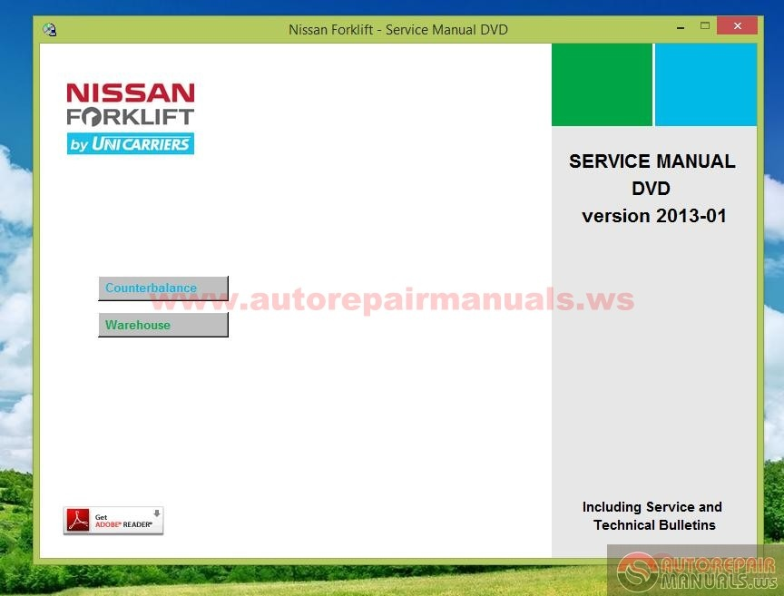 Repair Manual Nissan Forklift