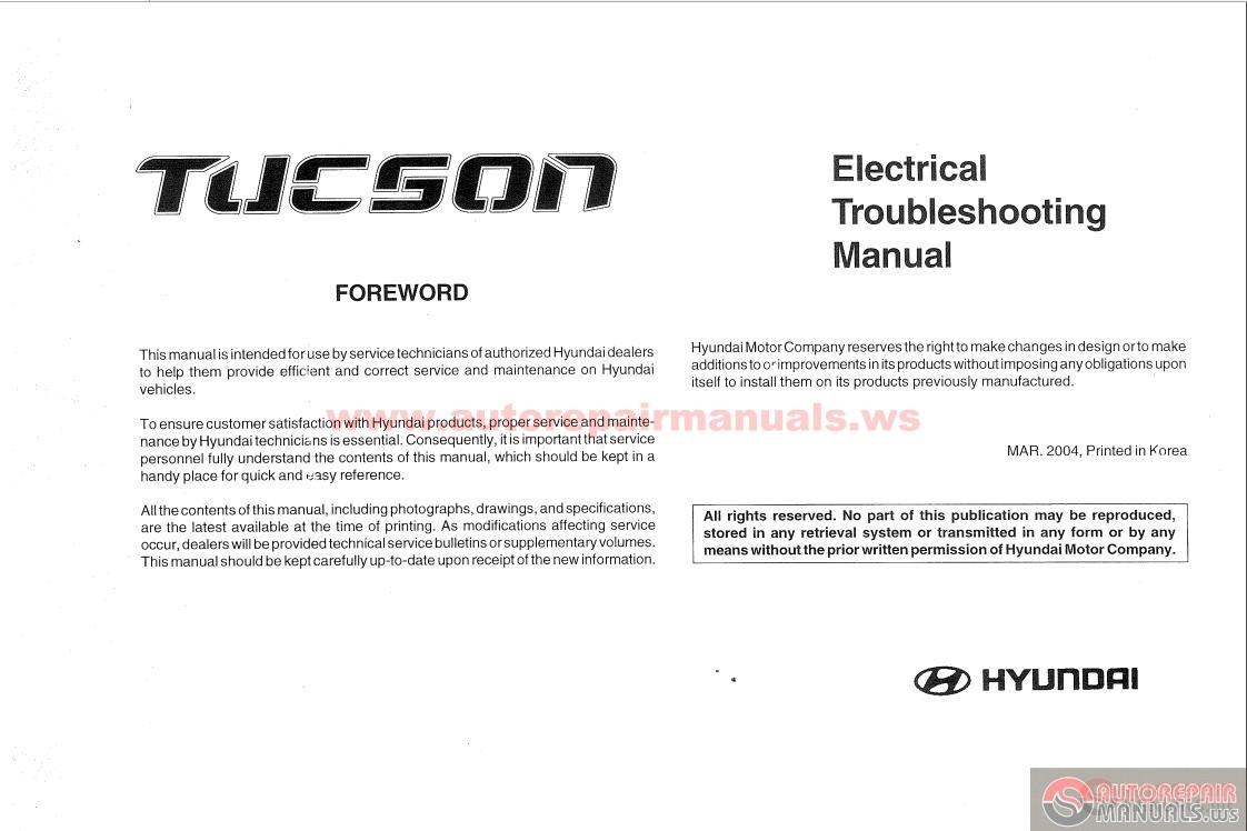 2008 Hyundai Tucson Wiring Diagram 34 Images Pdf 2004 Electrical Troubleshooting Manual Efcaviation Com 2006 At Cita