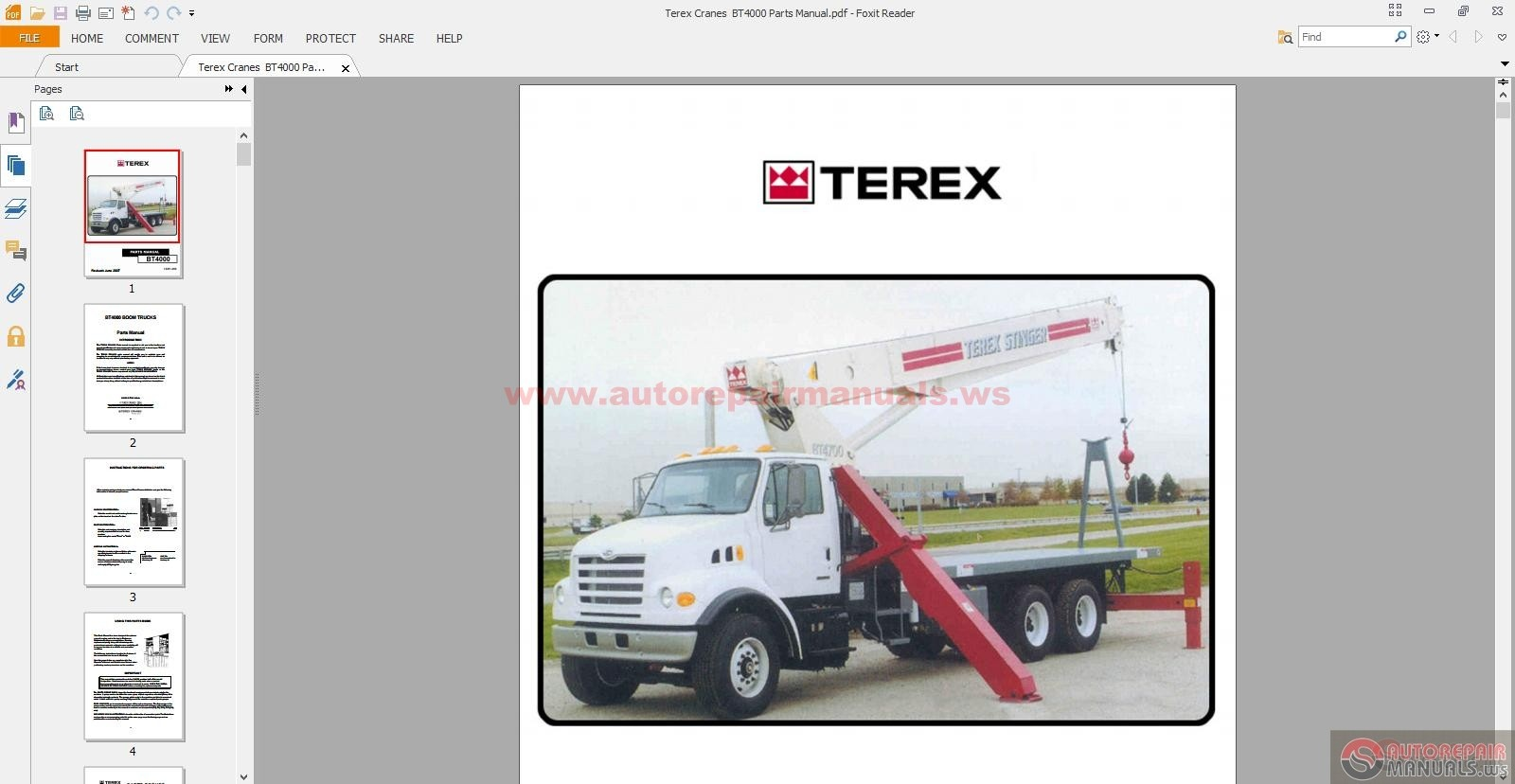 Terex Cranes BT4000 Parts Manual | Auto Repair Manual Forum