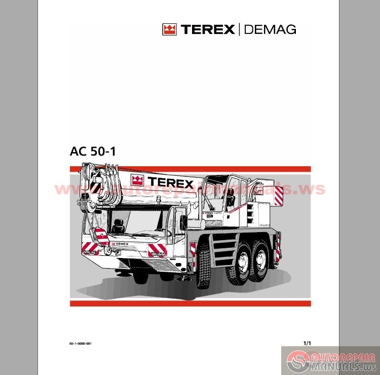 terex demag ac 50 1 operation and maintenance manual. Black Bedroom Furniture Sets. Home Design Ideas