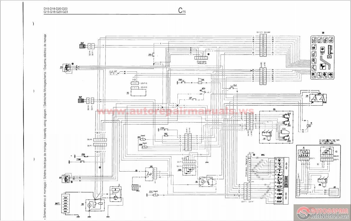 Forklift Fiat D1523 and DI1535 Repair manual – Linde Forklift Wiring Diagrams