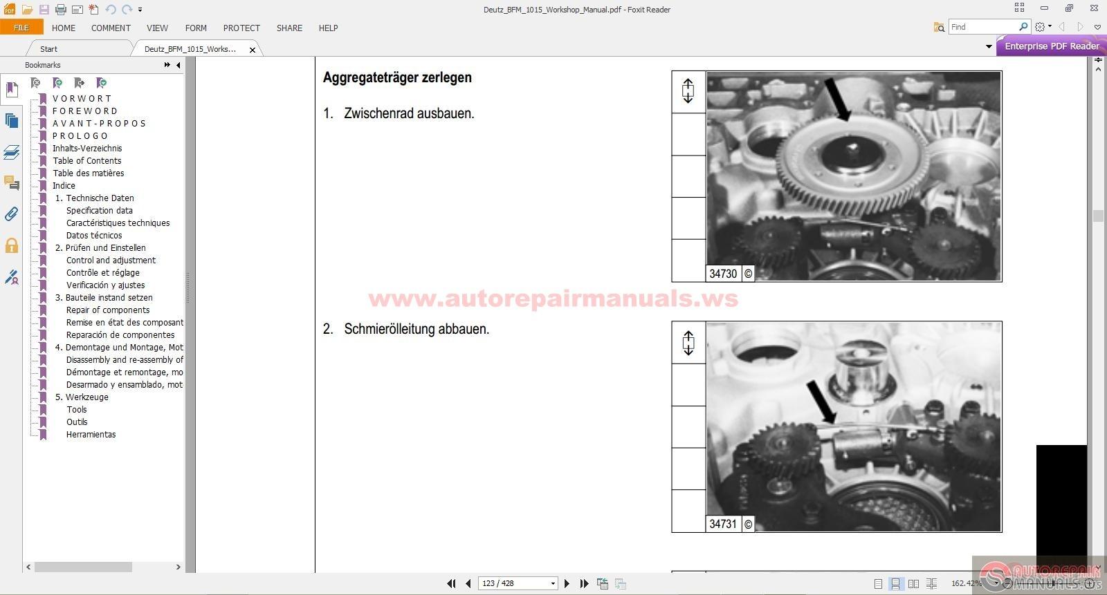 deutz bfm 1015 workshop manual