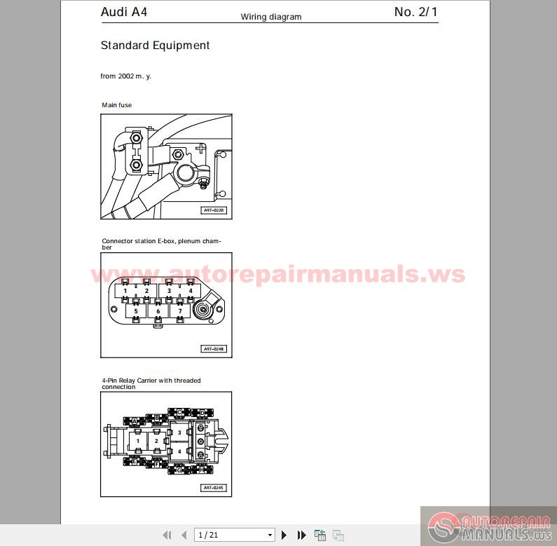 Audi A4 B5 Wiring Diagram Pdf : Audi a b wiring diagram auto repair manual forum