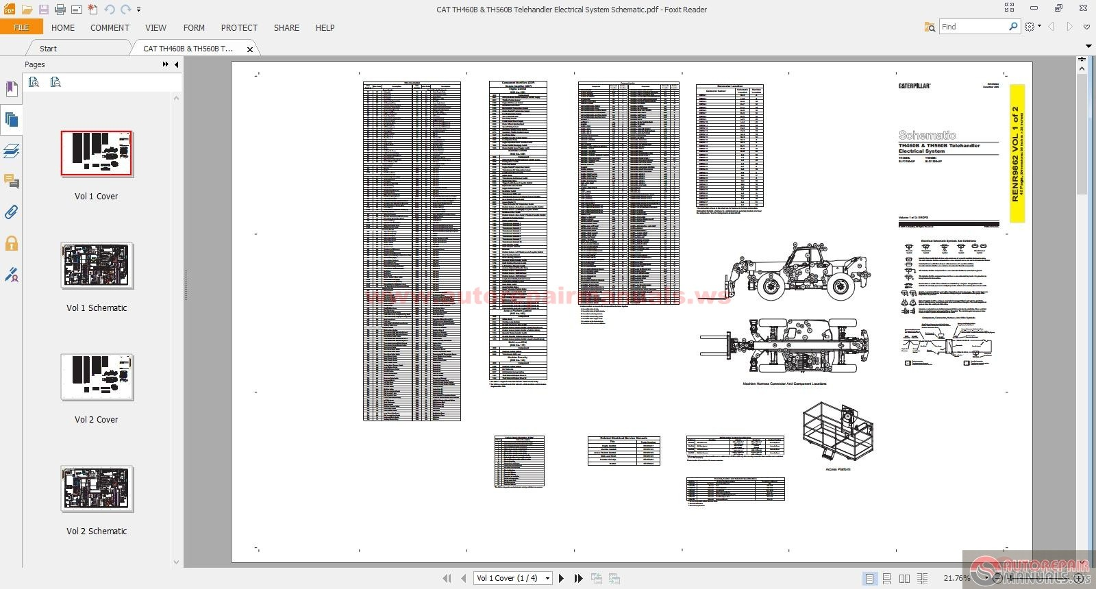 cat th460b th560b telehandler electrical system schematic auto repair manual forum heavy