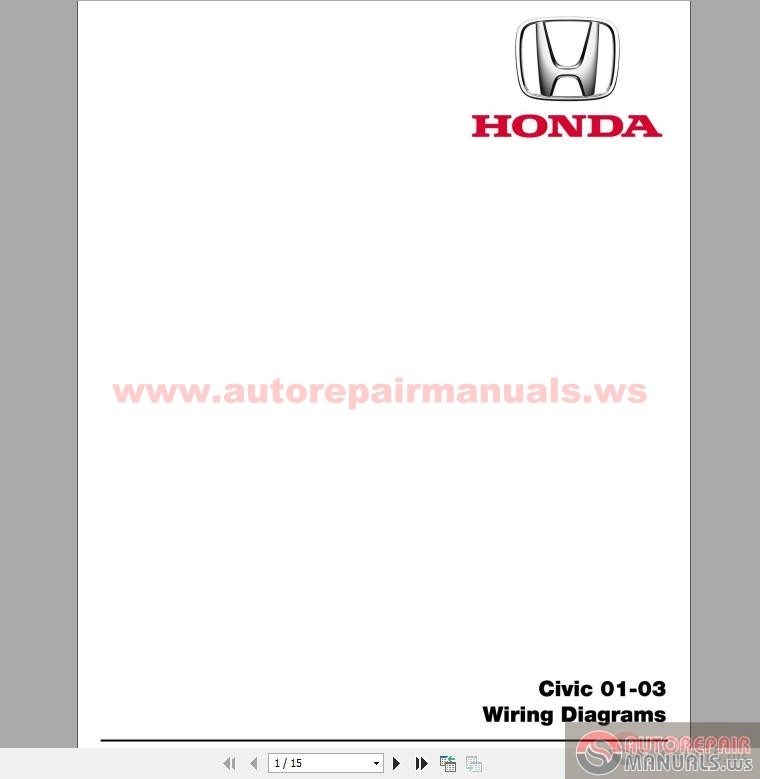 honda civic 2001-2003 wiring diagrams
