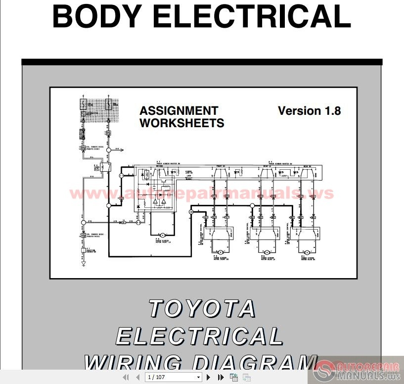 toyota electrical wiring diagram workbook auto repair. Black Bedroom Furniture Sets. Home Design Ideas