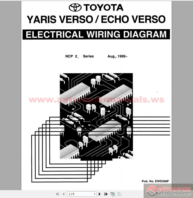Toyota Yaris Echo Verso Electrical Wiring Diagram