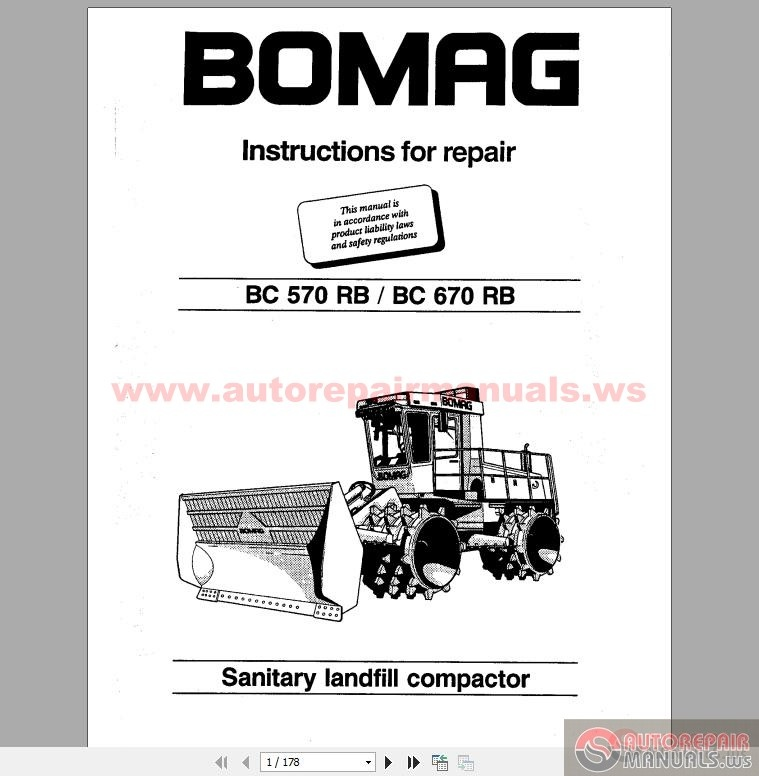 Bomag Instructions For Repair BC570RB,BC670RB
