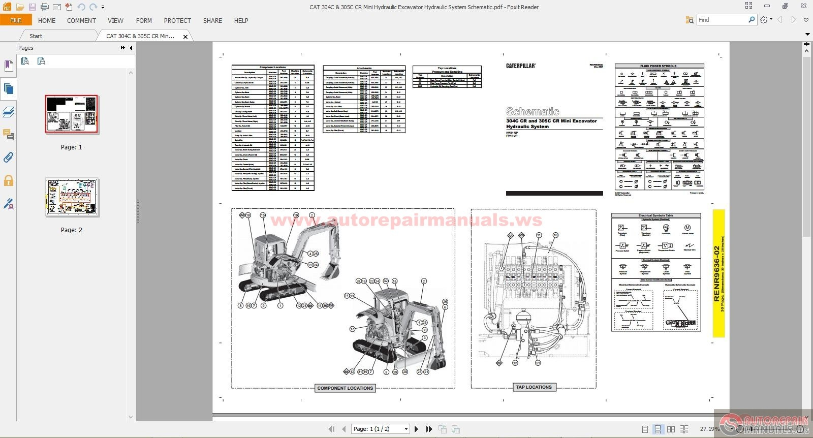 excavator caterpillar wiring diagram