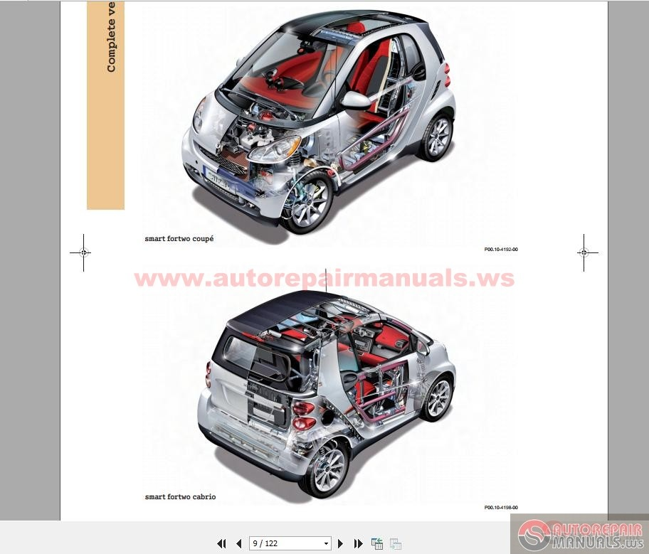 fortwo benz smart car series 451 auto repair manual. Black Bedroom Furniture Sets. Home Design Ideas