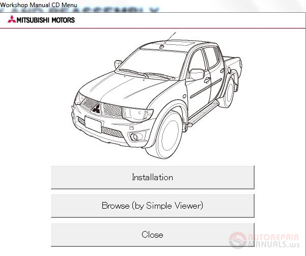 Mitsubishi L200 2012 Workshop Manual on toyota electrical wiring diagrams