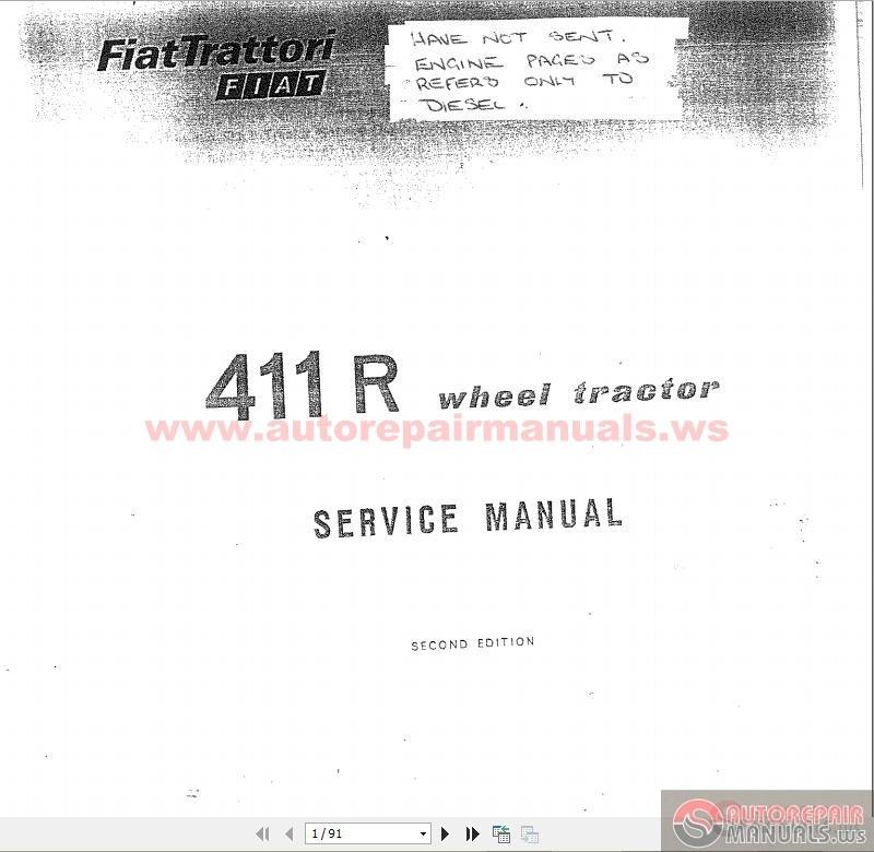 fiat tractor 411r wheel tractor service manual auto repair manual rh autorepairmanuals ws fiat 411r user manual fiat 411r parts manual