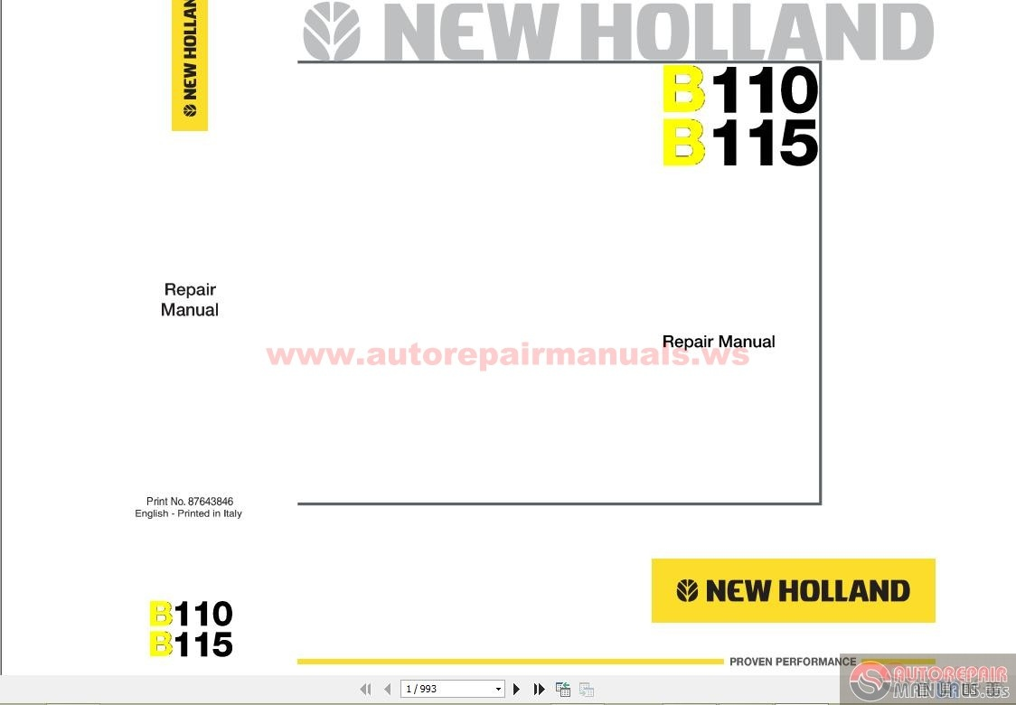 Keygen Autorepairmanuals Ws  New Holland Backhoeloader