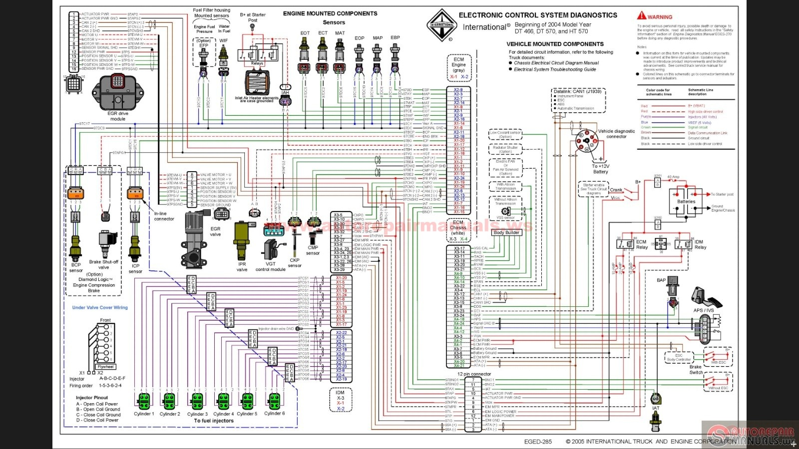 International_DT466E_Wiring_Schematic international dt466e wiring schematic auto repair manual forum international 9400i wiring diagram at creativeand.co