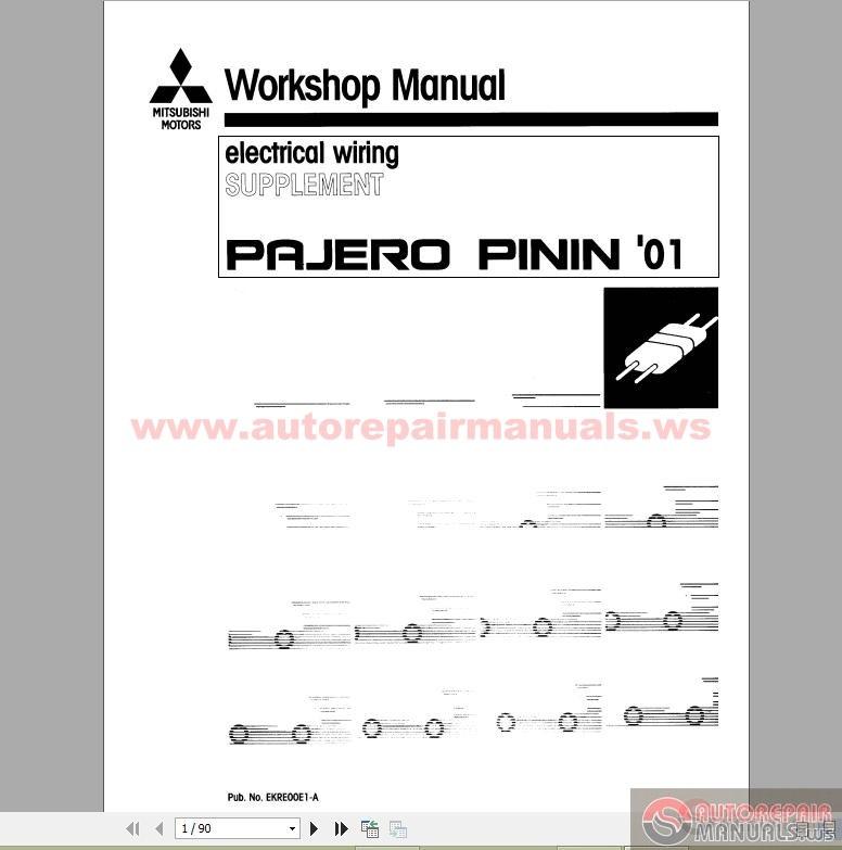 mitsubishi pajero pinin workshop manuals 1999 2002 auto repair rh autorepairmanuals ws mitsubishi shogun pinin workshop manual pdf mitsubishi pajero pinin workshop manual