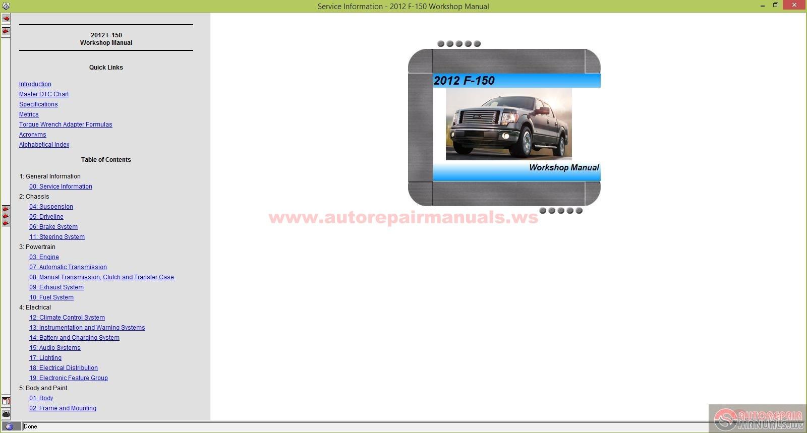 Ford Motor Co Repair Manuals