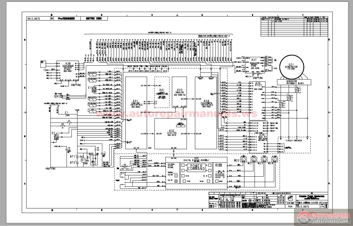Cummins Power Generation Pcc3100 Control System Schematic