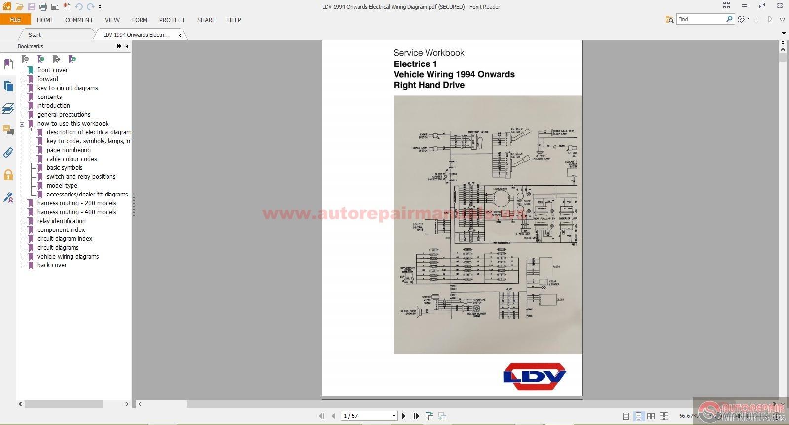 Ldv 1994 Onwards Electrical Wiring Diagram