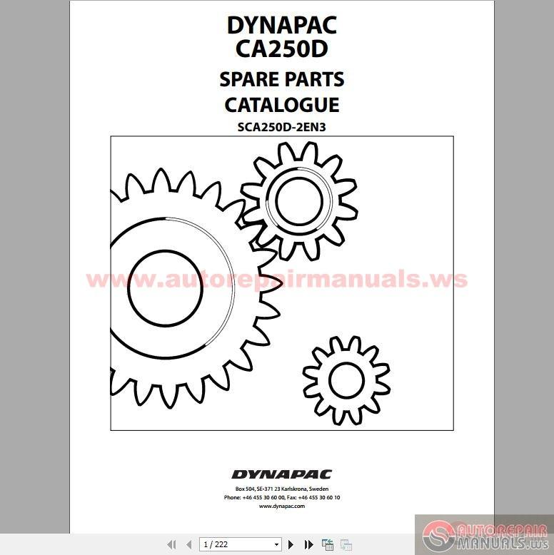 keygen autorepairmanuals ws  dynapac vibratory roller ca250d spare parts catalogue sca250d