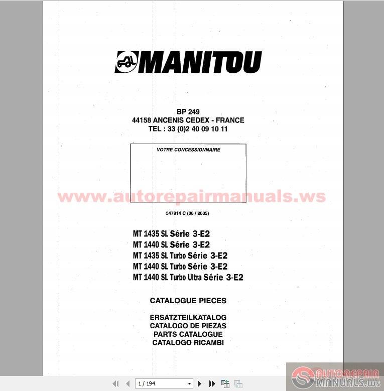 Manitou Mt 1435 1440sl Series 1435 1440sl Turbo Series 3
