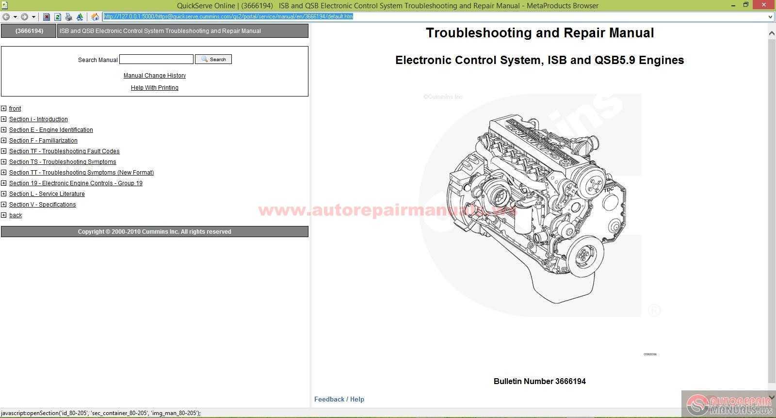Cummins Isb And Qsb Electronic Control System