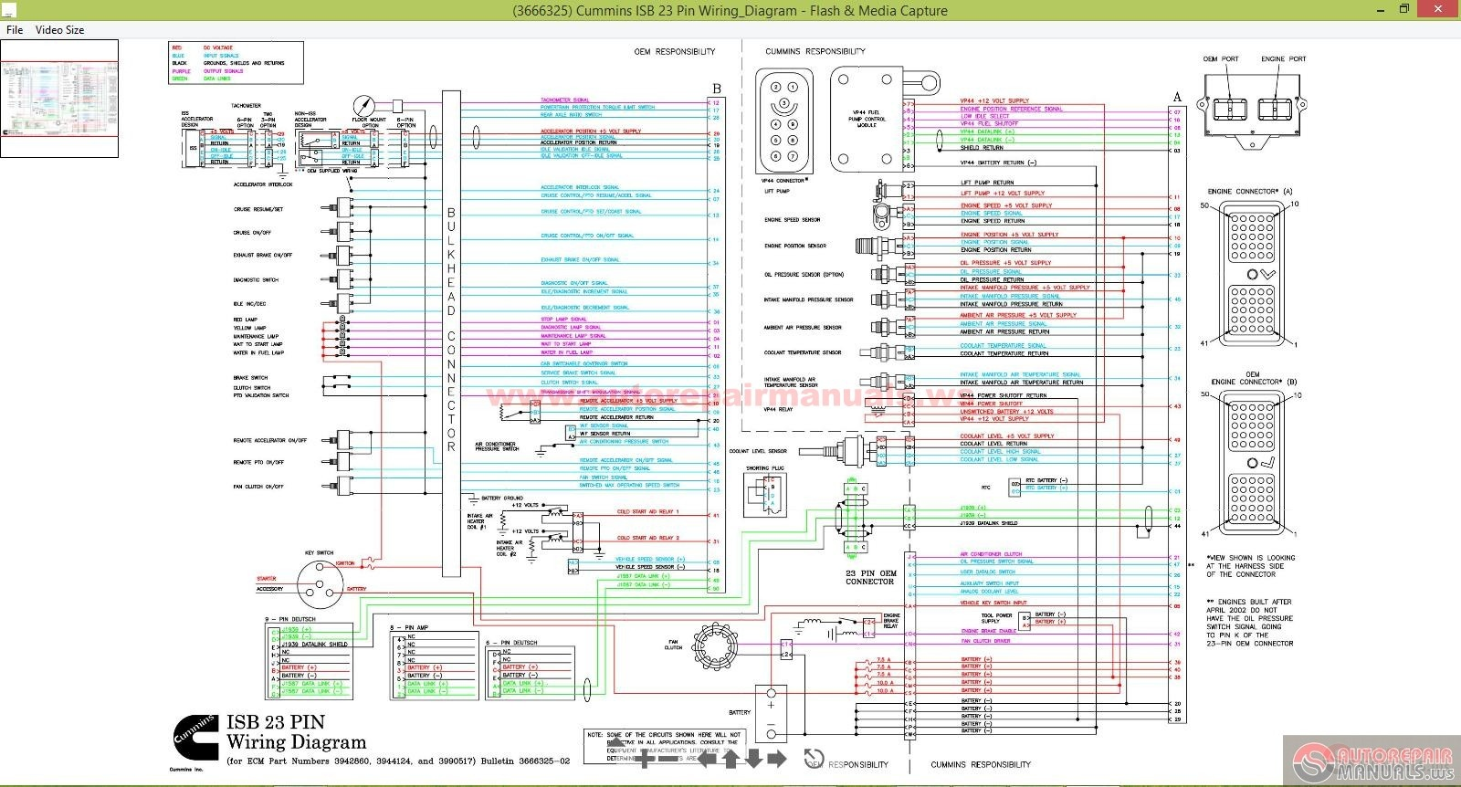 3666325_Cummins_ISB_23_Pin_WiringDiagram cat 70 pin ecm wiring diagram caterpillar c15 wiring diagram  at eliteediting.co