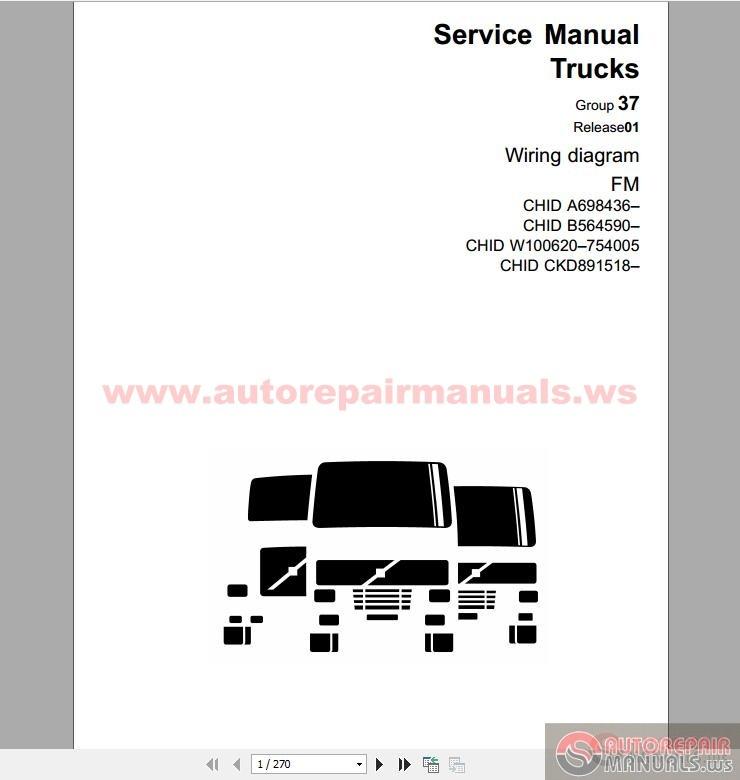 volvo truck fm  euro 5  wiring diagram