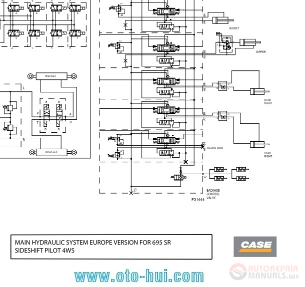 case backhoe loader schematic for 580sr  590sr  695sr