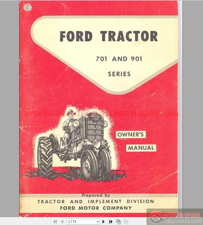 ford   row crop tractors owners manual