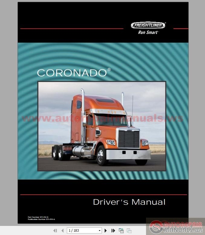 Freightliner 122sd And Coronado 132 Driver U0026 39 S Manual
