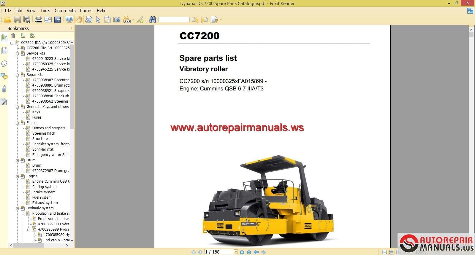 Keygen Autorepairmanualsws  Dynapac CC7200 Spare Parts Catalogue