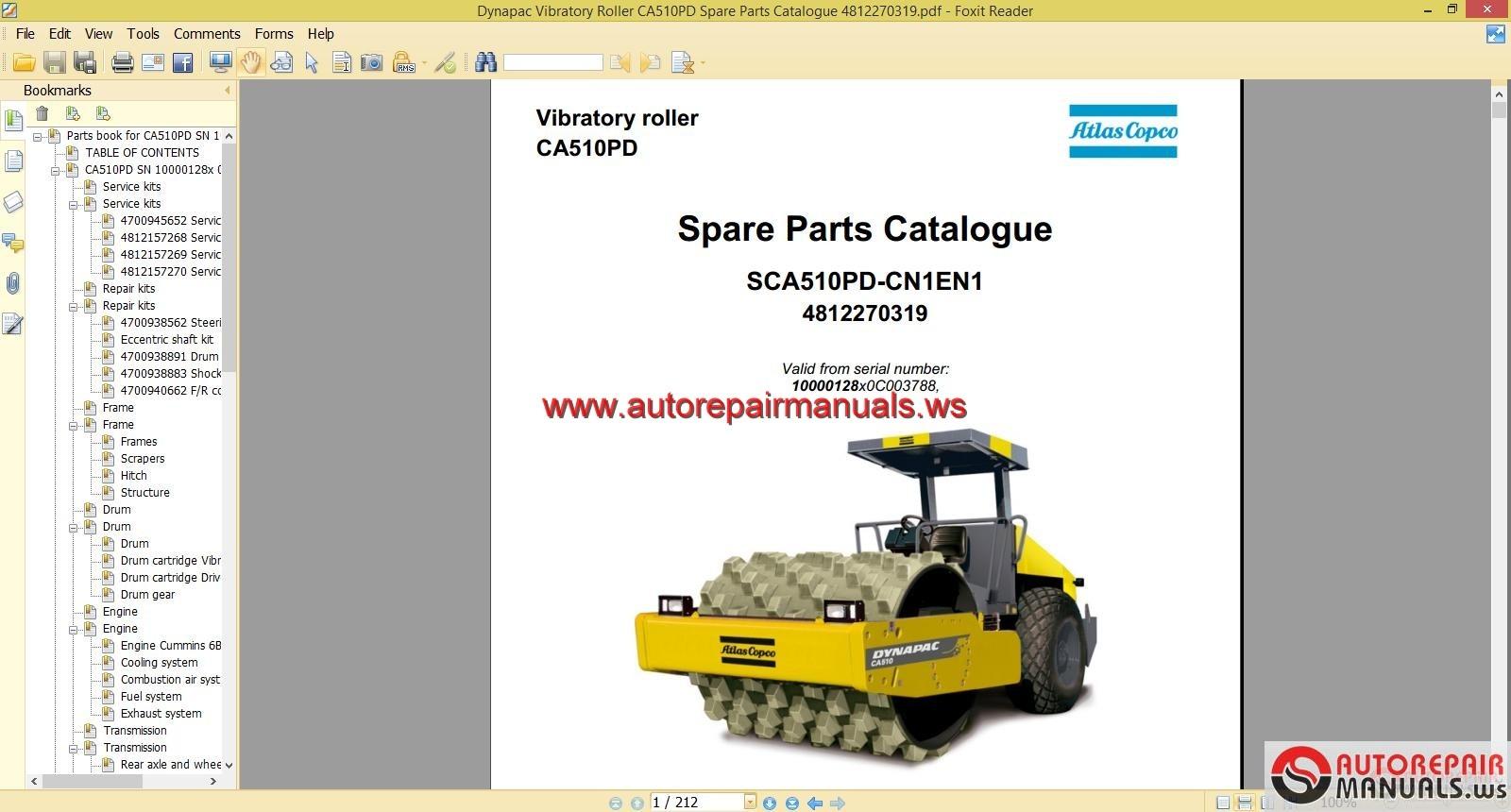 Keygen Autorepairmanuals Ws  Dynapac Vibratory Roller