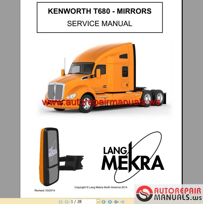 Kenworth Truck T680 Mirrors Service Manual Auto Repair border=