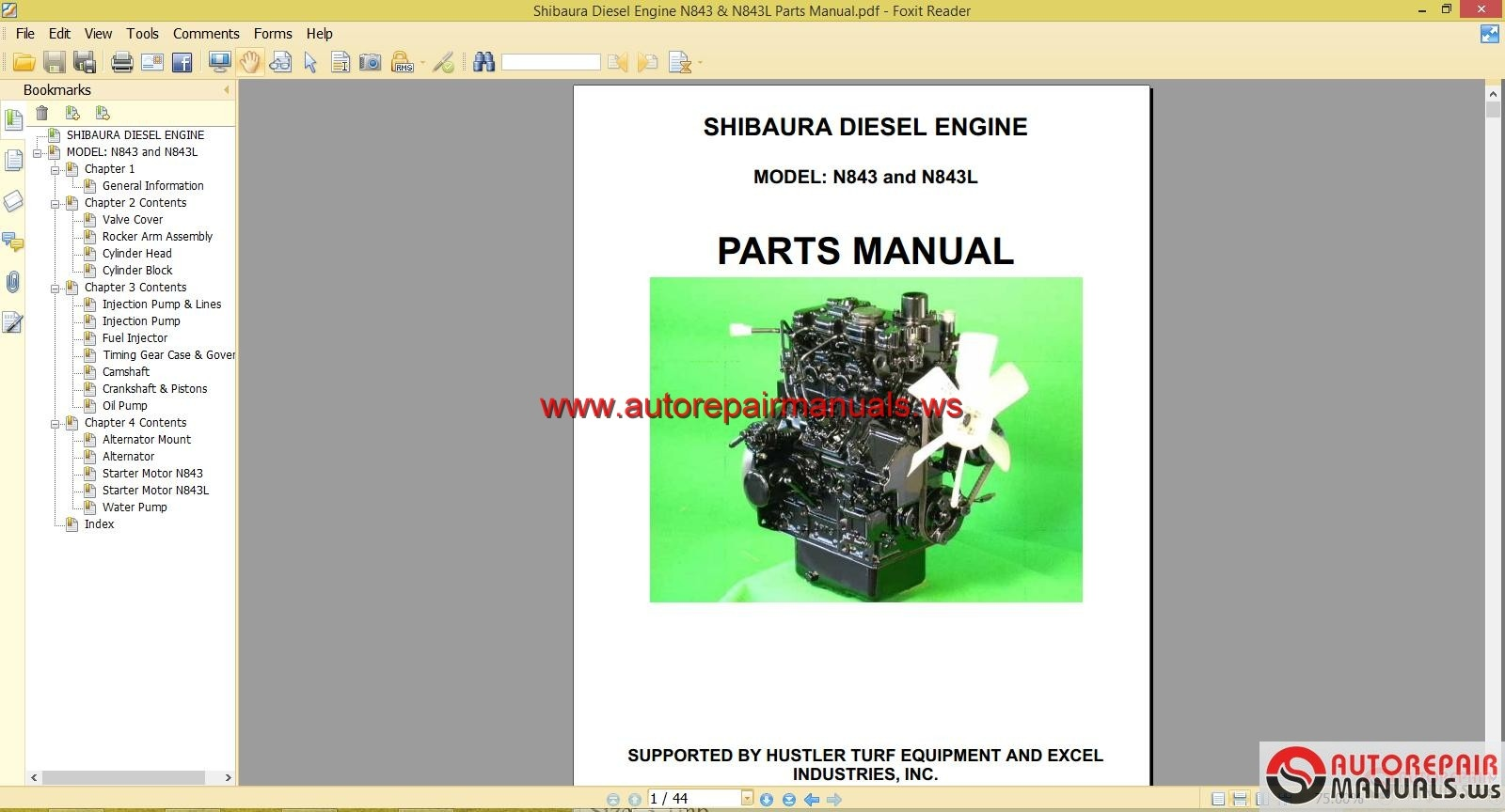Shibaura Diesel Engine N843 & N843L Parts Manual | Auto