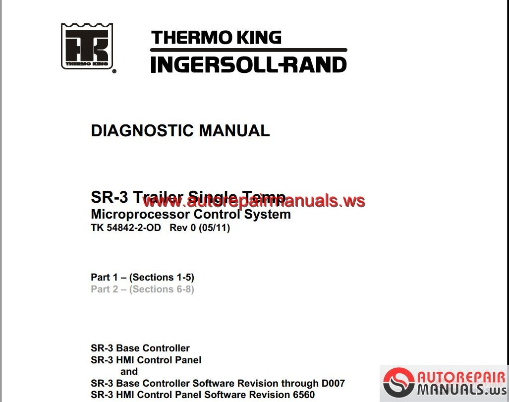 Thermo King Models Service Manual Auto Repair Manual