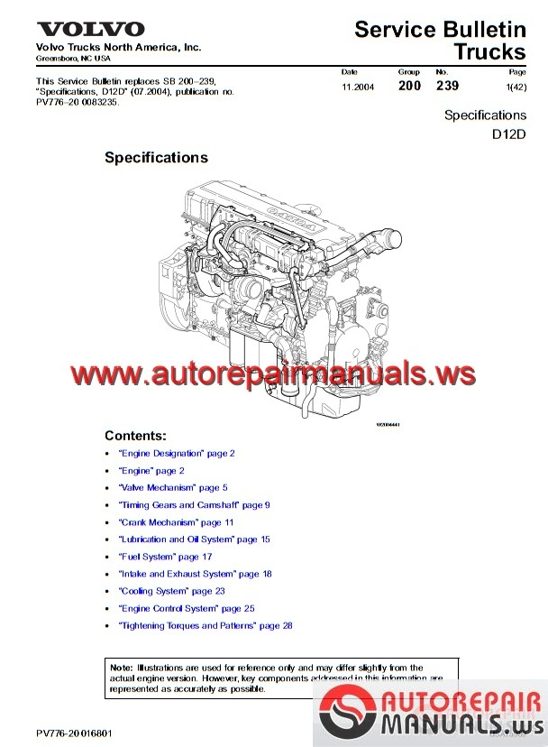 Volvo D16 Engine Diagram In Truck on volvo vnl wiring diagram