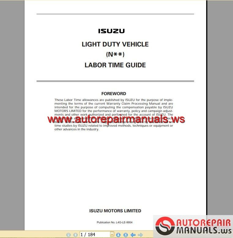 isuzu 4hk1 workshop manual pdf
