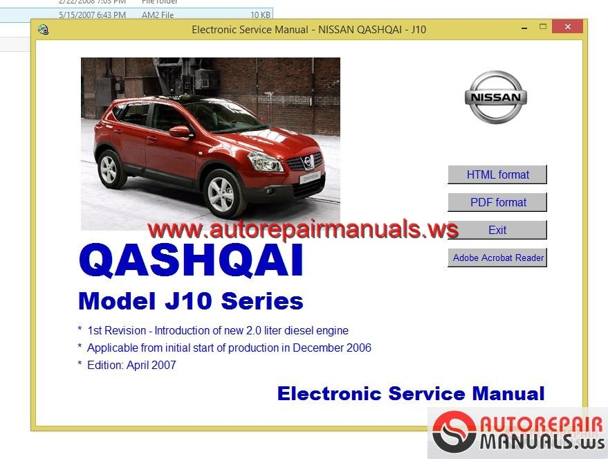 Nissan Qashqai 2007 Guidelines for Repair and Maintenance ...