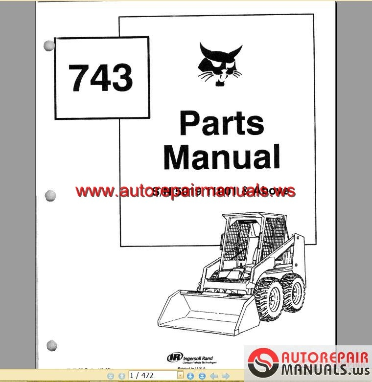 Bobcat 863 Hydraulic Diagram