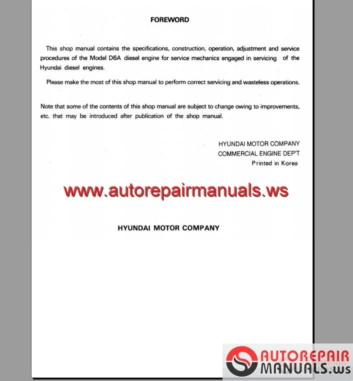 Hyundai Diesel Engine D A D D D A D B Workshop Manual on 2002 Hyundai Elantra Owners Manual