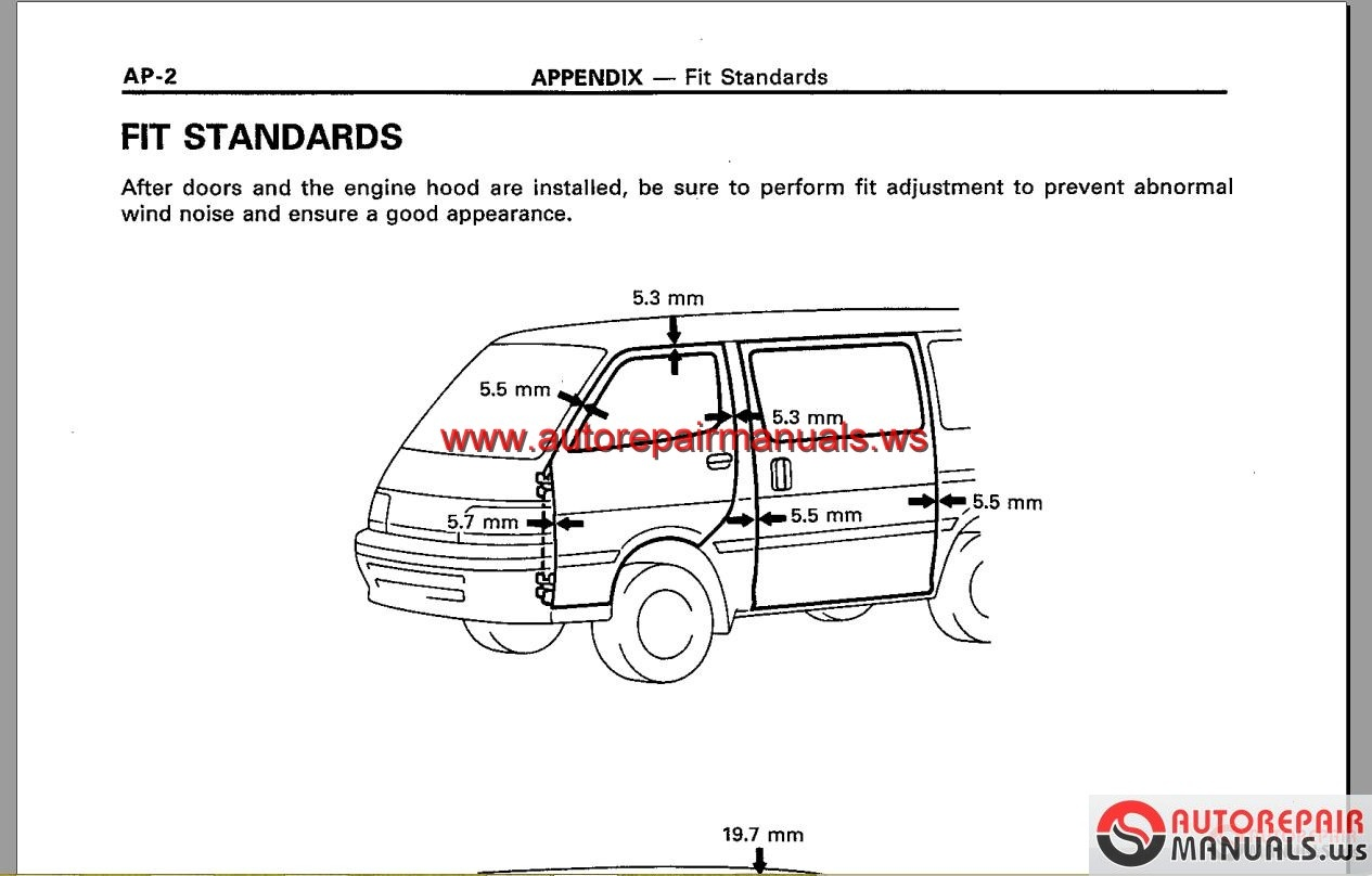 Toyota Hiace Workshop Manual