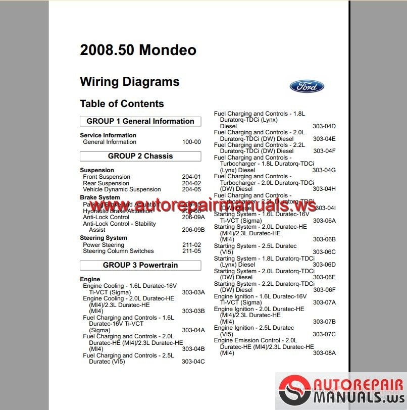 Ford_Mondeo_2008 2009_EU_Wiring_System_Diagram1 ford mondeo 2008 2009 ( eu) wiring system diagram auto repair ford mondeo wiring diagram pdf at panicattacktreatment.co