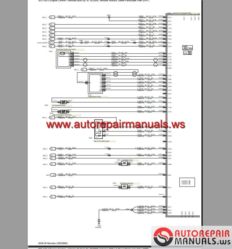 Ford       Mondeo    20082009   EU  Wiring System    Diagram      Auto Repair Manual Forum  Heavy Equipment