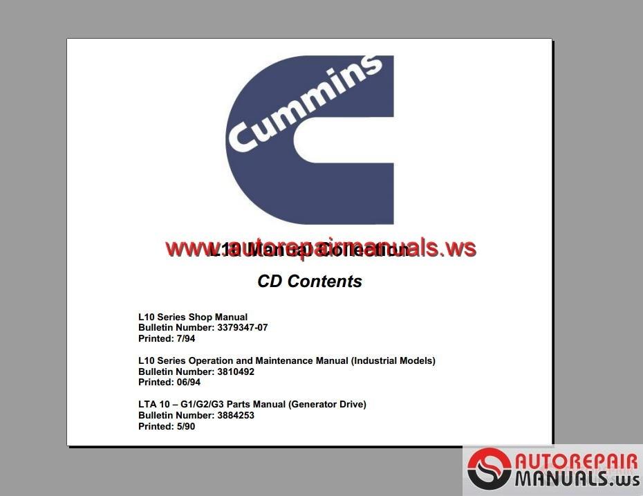 Keygen Autorepairmanuals Ws  Cummins L10 Manual Collection