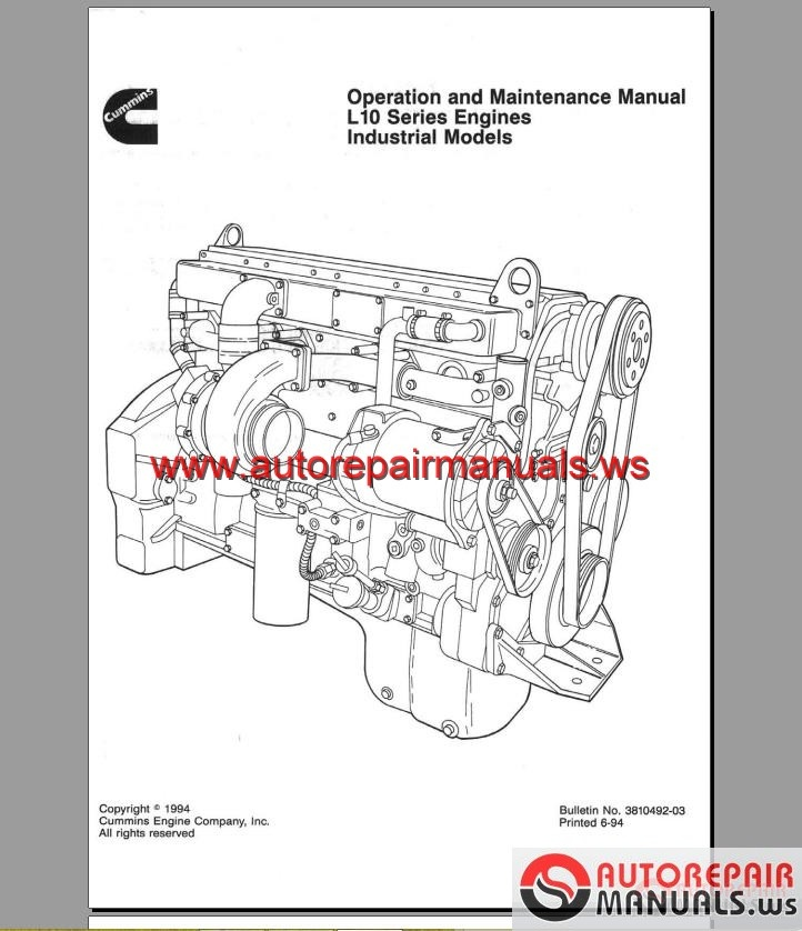 cummins l10 manual collection cd content